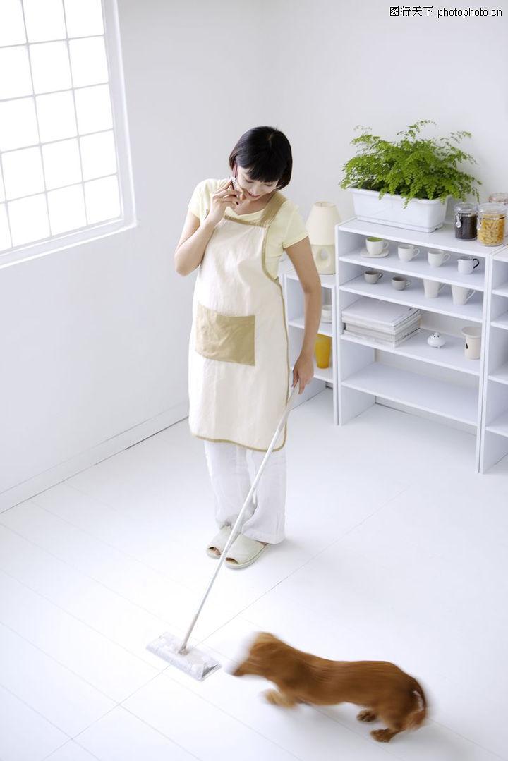 女性宠物,生活方式,家务 劳动 拖地,女性宠物0080