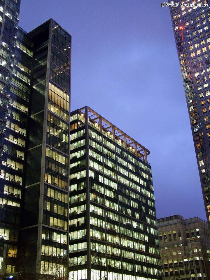 现代建筑,建筑室内空间,高楼 城市 夜景,现代建筑0047