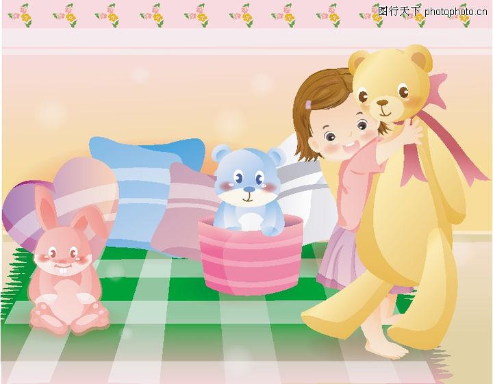 儿童0148-儿童图-日韩盛典图库-床单 卡通熊 红