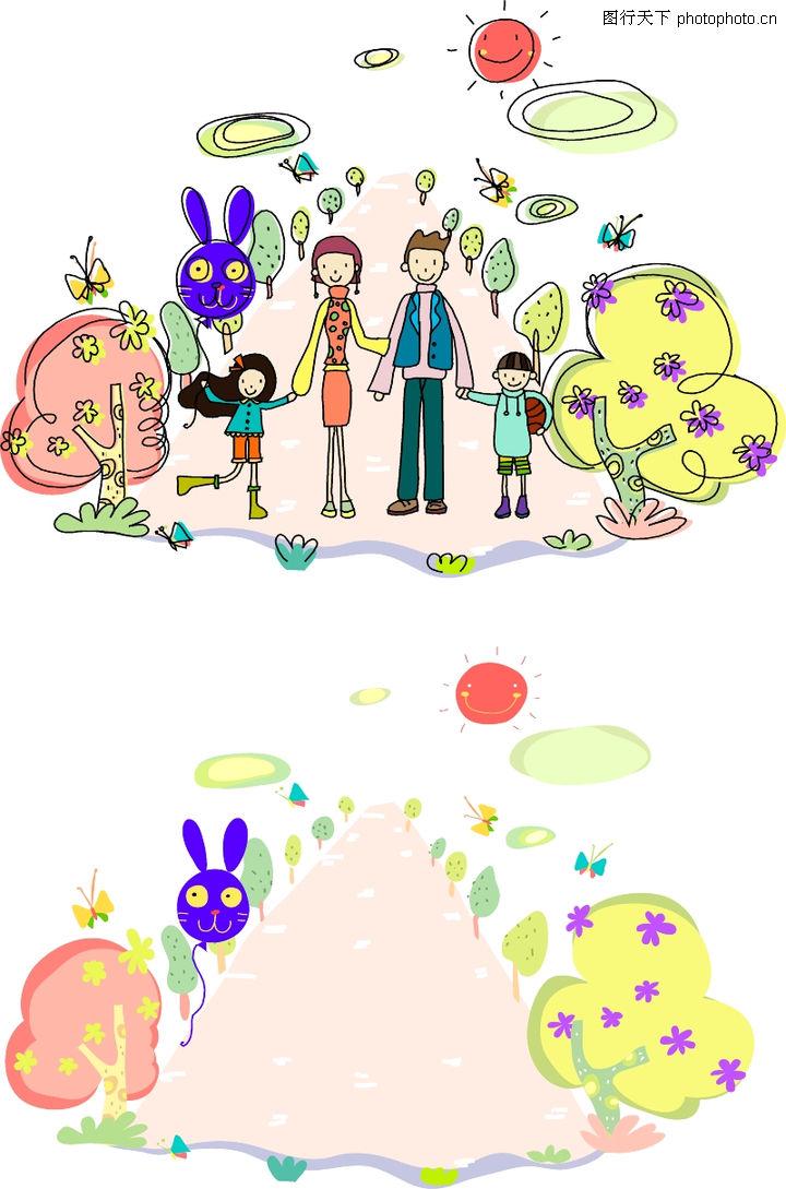 矢量卡通人物; 日韩盛典; 儿童卡通游玩