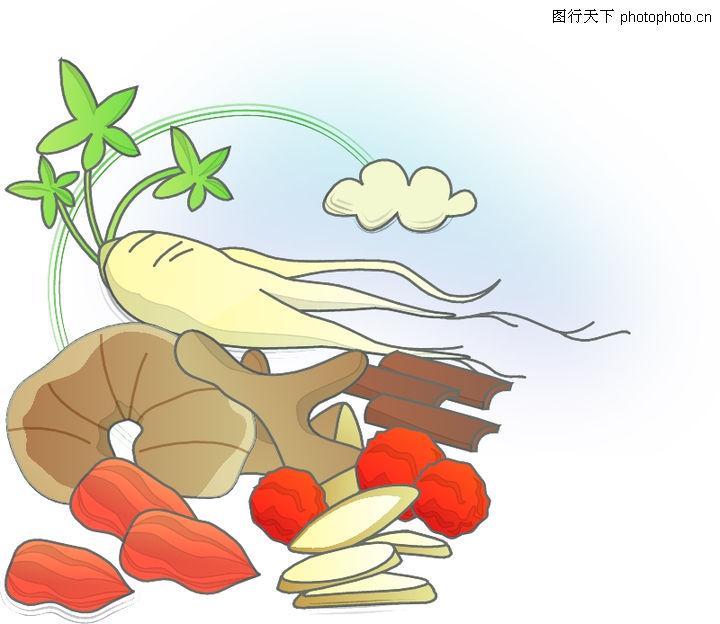 中药材矢量图;; 卡通物件;