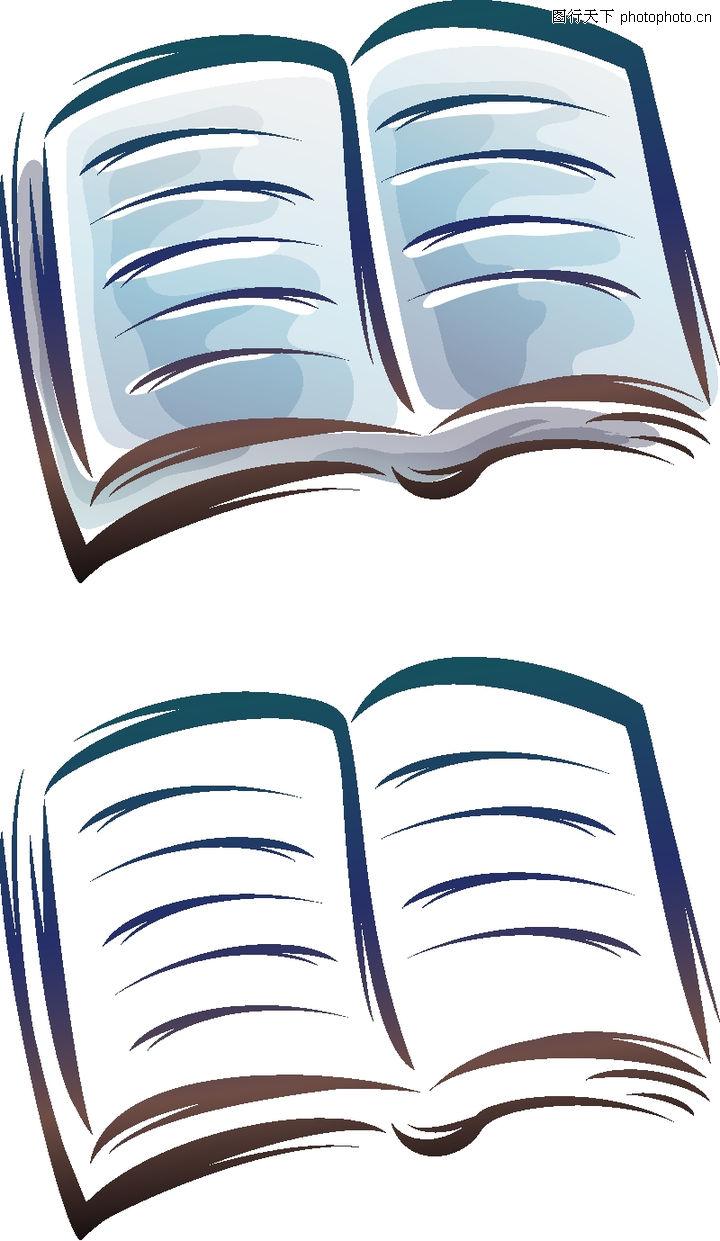 卡通物件0085-卡通物件图-日韩盛典图库-书本翻开-卡通翻开的书本图