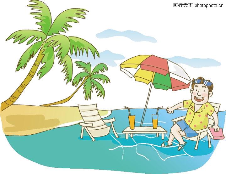 海边情侣动漫手绘