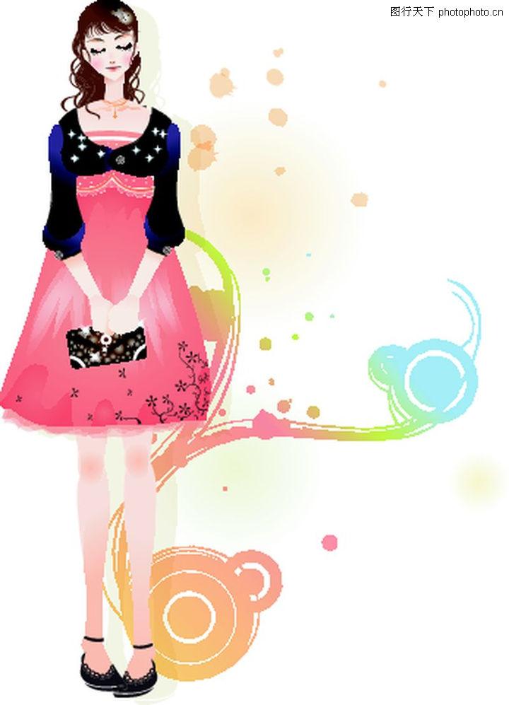 动漫人物裙子花纹