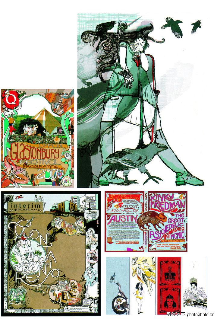 热潮涂鸦式设计,2008全球广告年鉴,漫画世界,热潮涂鸦式设计0130