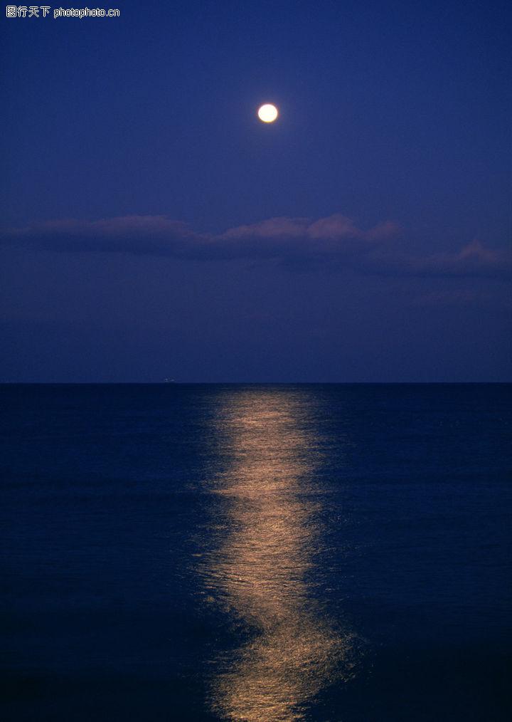 晚上月亮图片大全