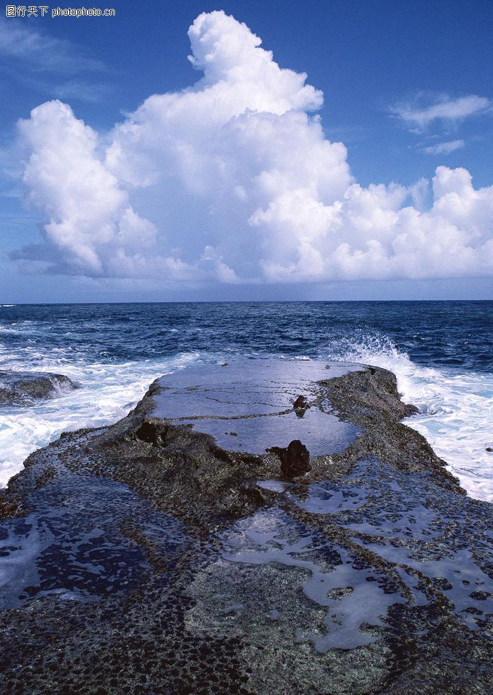 海岛风情,自然风景,白云 礁石 景物,海岛风情0039