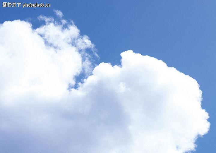 蓝天白云早图 自然风景图库