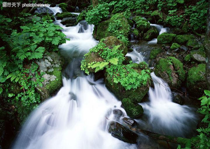 高山流水,自然风景,一泻而下,高山流水0090
