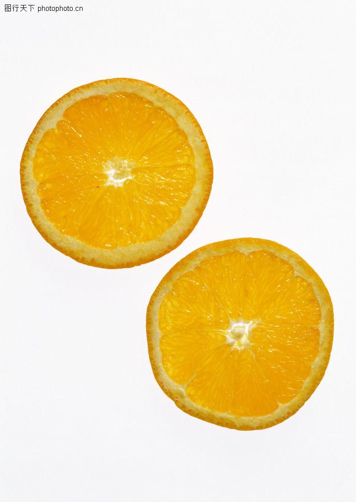 新鲜蔬果,饮食水果,切开的桔子,新鲜蔬果0140