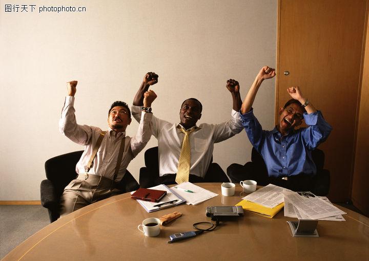商务会议,商业人物情景,欢呼,商务会议0042