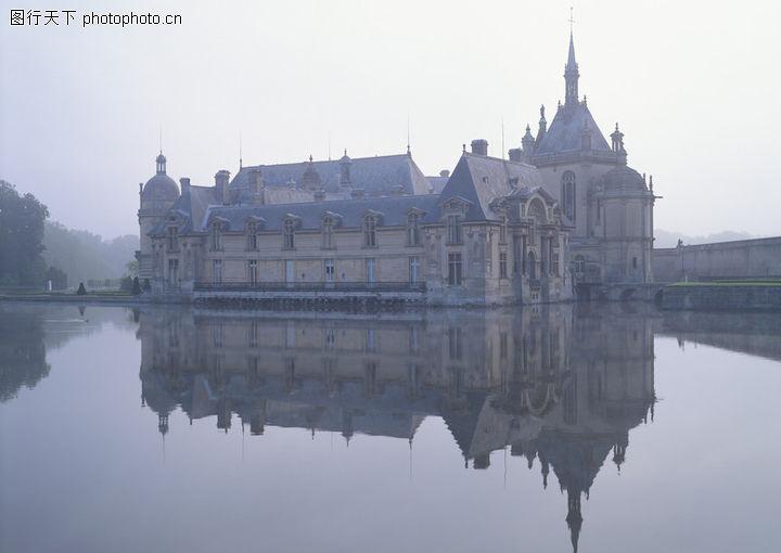 欧洲风情,建筑空间,城堡 倒影 欧式建筑,欧洲风情0091