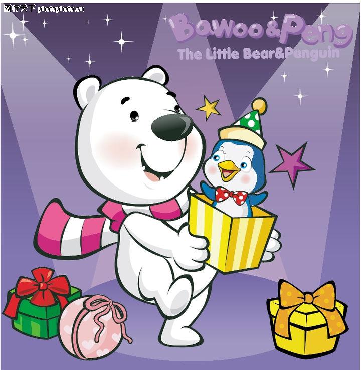 可爱小白熊,动物,图片