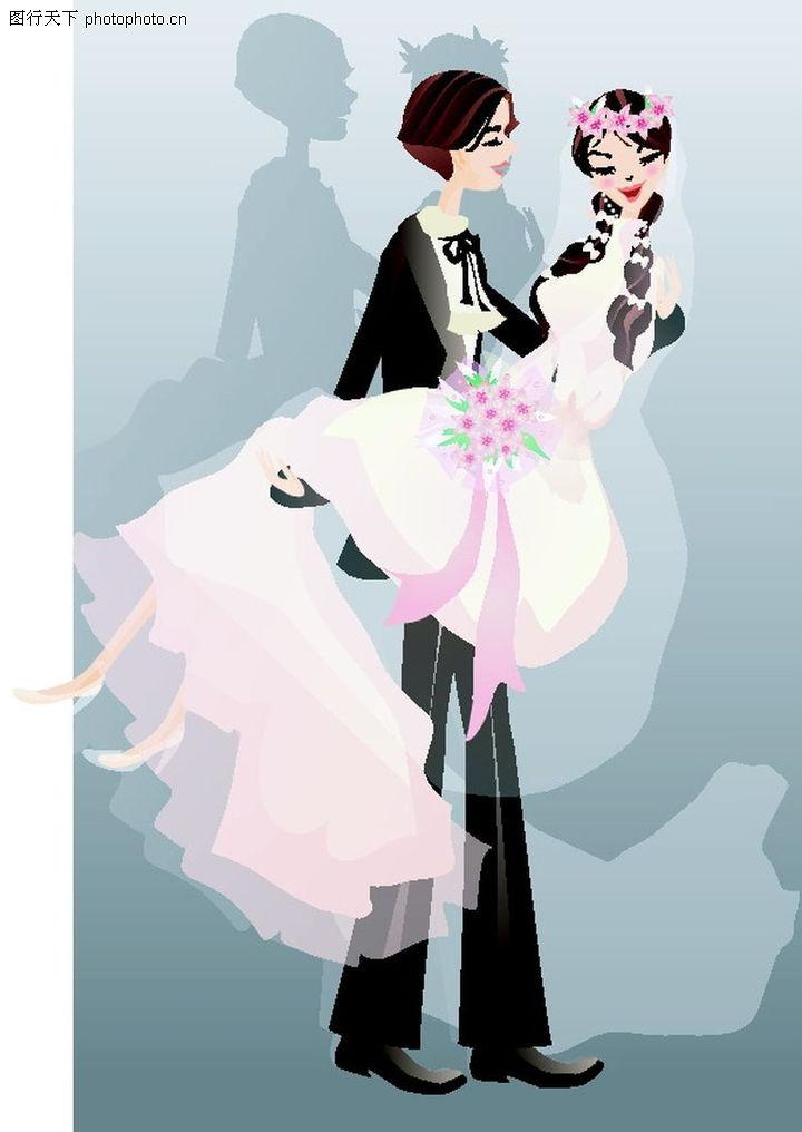 可爱小女孩婚纱动漫