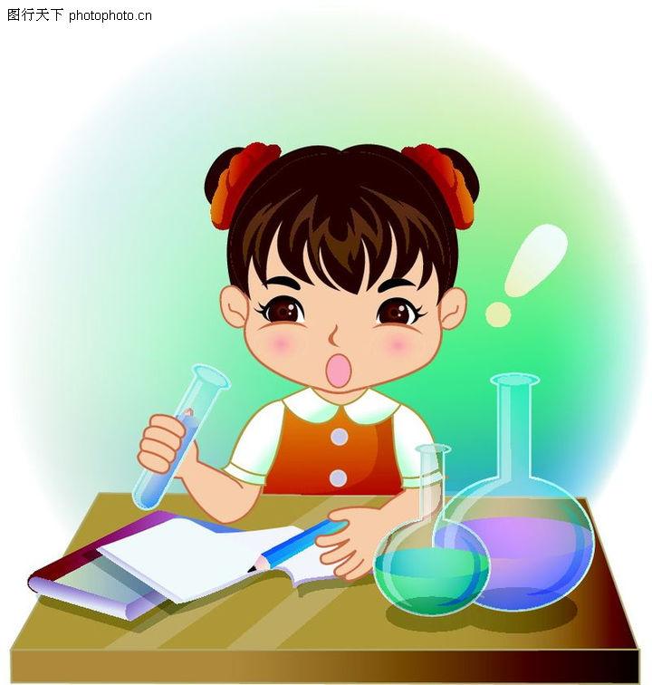 学生学习,少年儿童,化学课