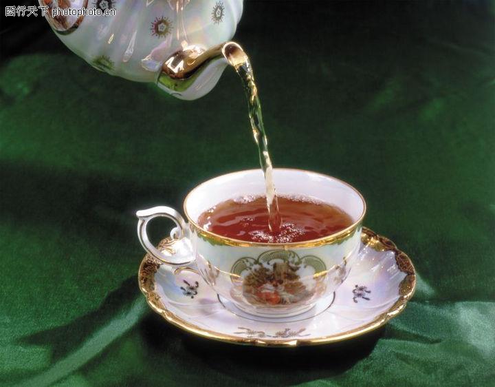 茶与咖啡,水果食品,西洋茶壶 倒茶,茶与咖啡0002