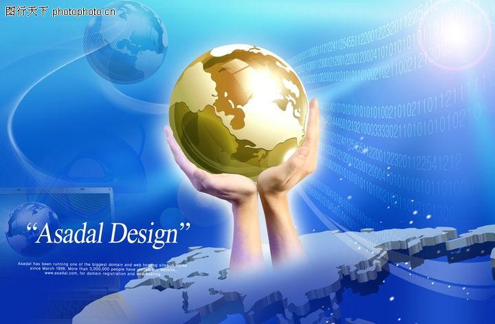 电子科技,韩国设计元素,地球 双手举托 蔚蓝色,电子科技0115图片