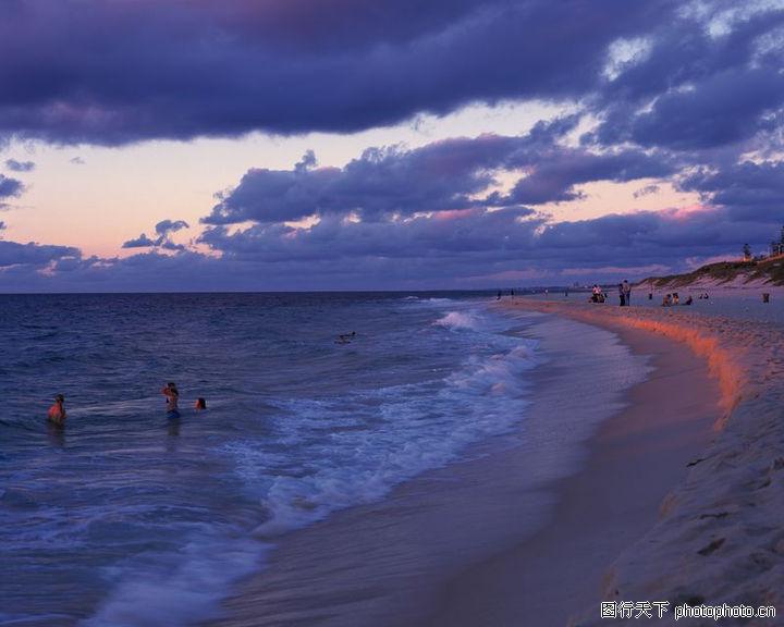 海滩百景,自然风景,游泳 海边玩耍,海滩百景0100