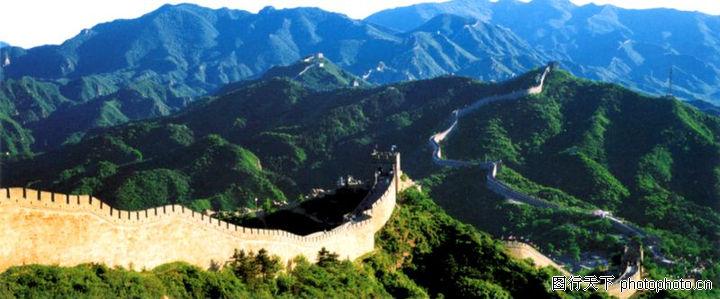 万里长城0009 万里长城图 中华图片图库 绿色山脉 高清图片