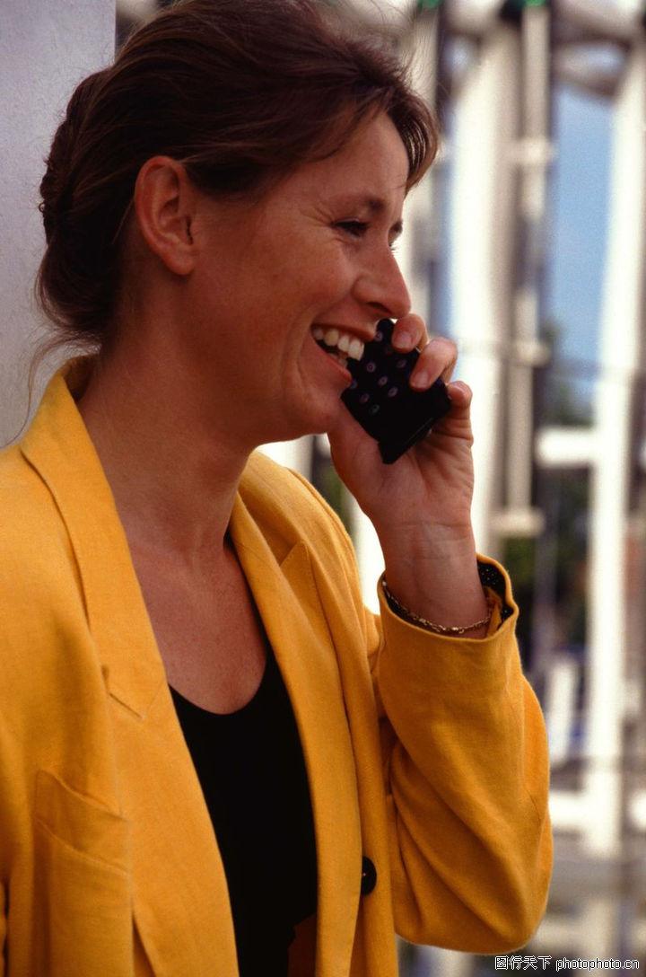 商业人物,商业,接电话 笑脸 侧脸,商业人物0039