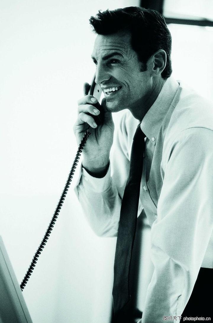 生意沟通,商业,黑色领带 白衬衣,生意沟通0015