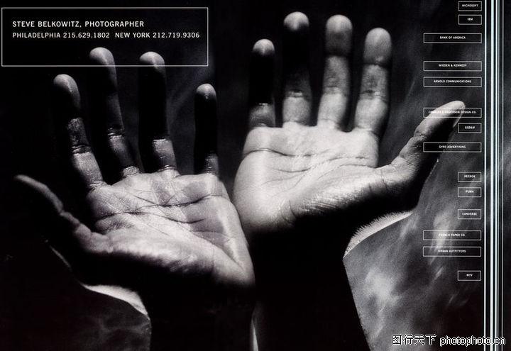 人物肖像,顶尖视觉创意,伸出手掌 黑白照片,人物肖像0003