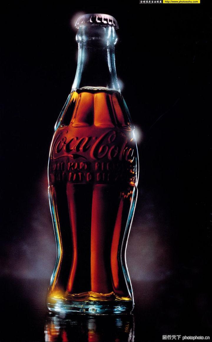 时尚广告 顶尖视觉创意 可乐 玻璃瓶