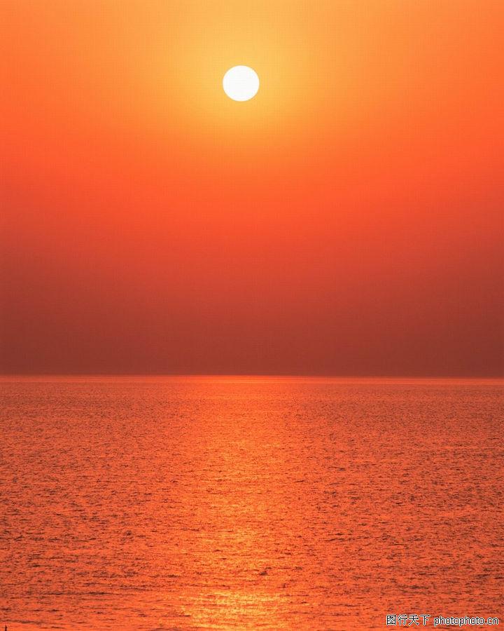 荒野与夕阳 自然风景 落日 景观 水波