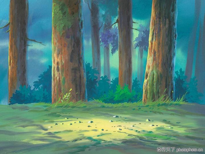 森林ppt背景图