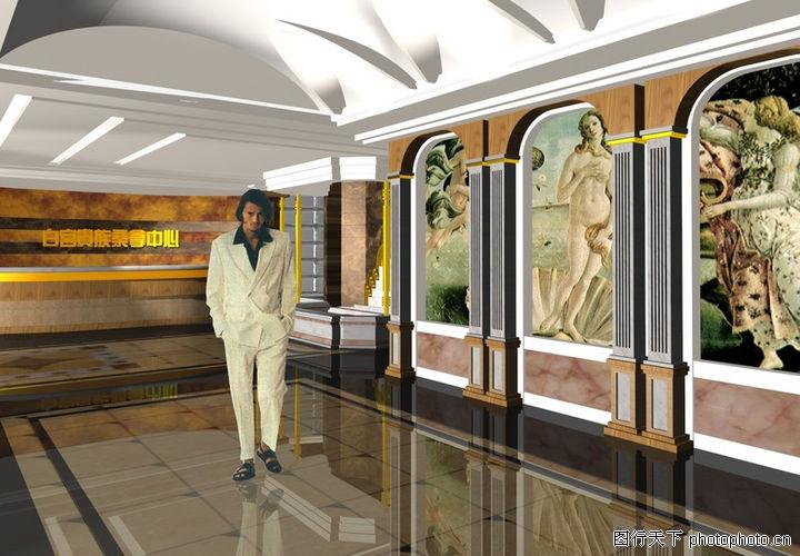 宾馆酒店模型,装饰,光滑地面 酒店模型,宾馆酒店模型0004