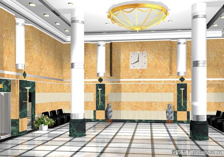 立柱装饰效果图 酒店装饰效果图 酒店柱子装饰效果图