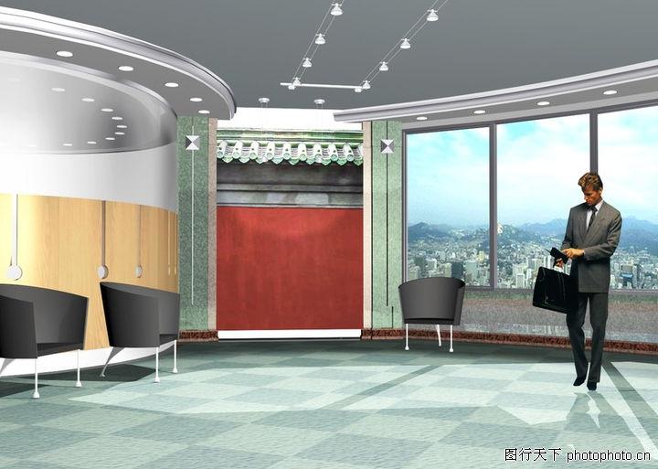 宾馆酒店模型,装饰,公司 椅子 大厅,宾馆酒店模型0032