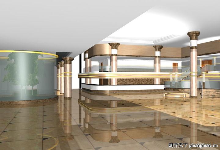 宾馆酒店模型,装饰,空间 装修 酒店,宾馆酒店模型0038