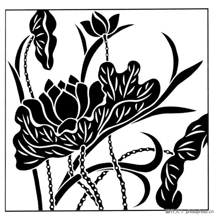 现代图案花纹 综合 黑白画作