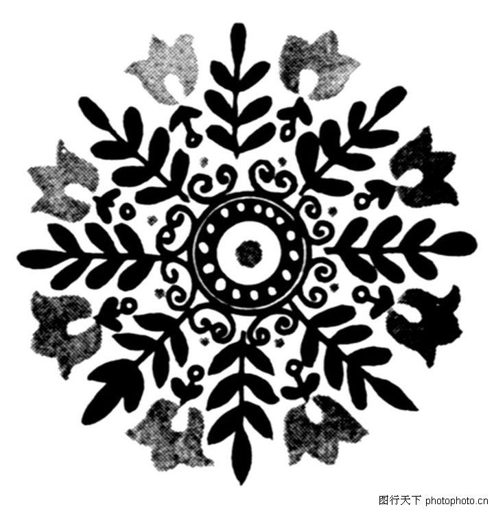 现代图案花纹; 民族图案; 黑白图案花纹(5)[50p]