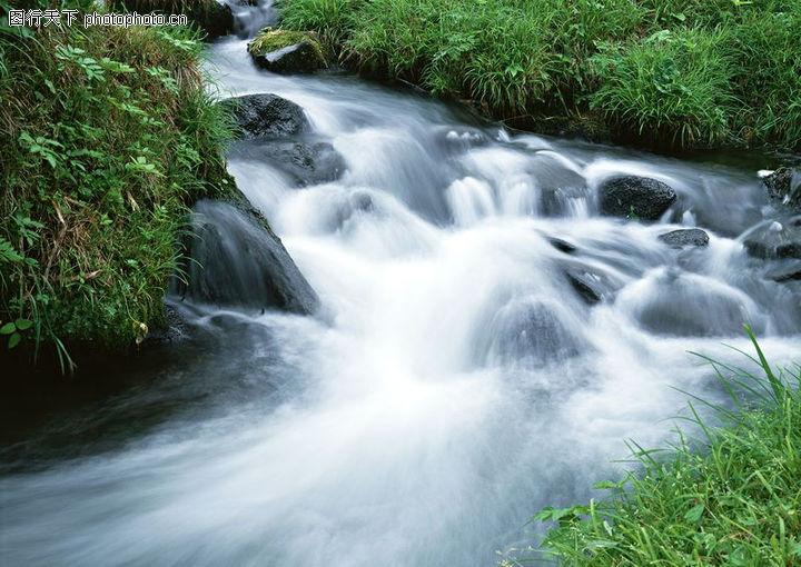 瀑布水源,自然风景,瀑布水源0134