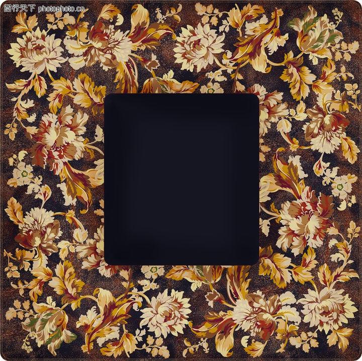 花卉边框,自然风景,花卉边框0045