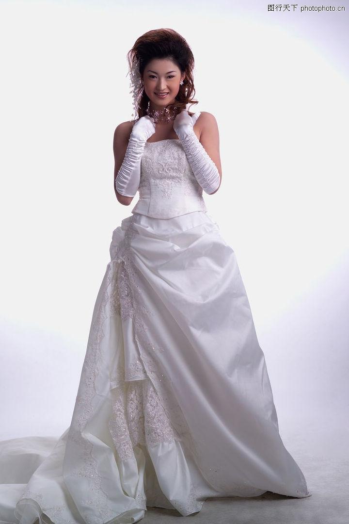 婚纱礼服0003 婚纱礼服图 婚纱写真图库 长裙拖地