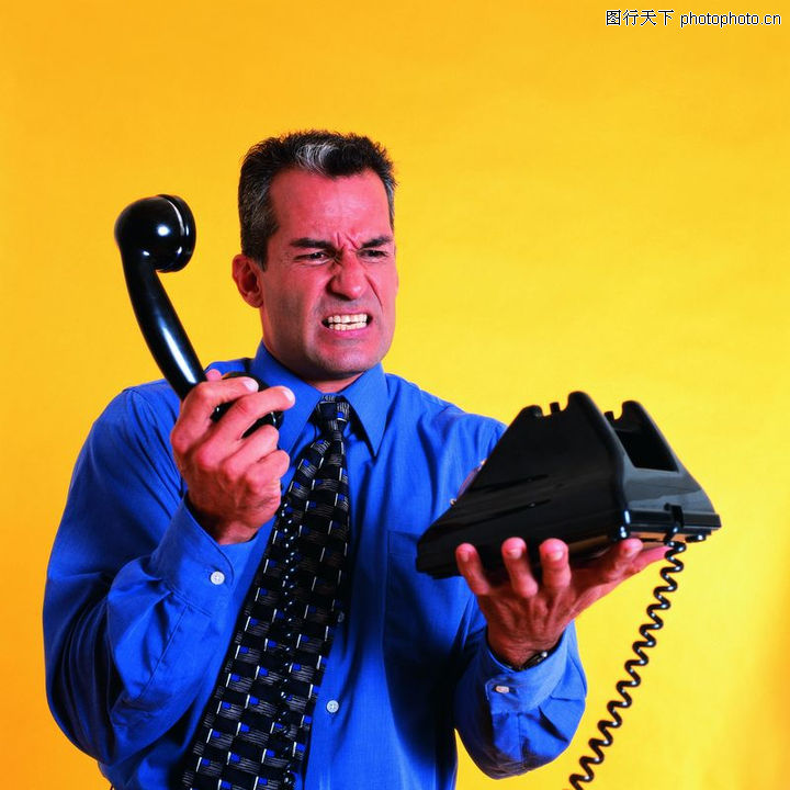 女企业家,商务,黑色电话 懊恼表情,女企业家0008