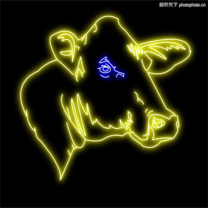 动物,霓虹灯设计,动物0016
