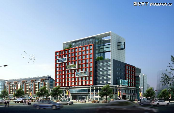 现代商业,办公楼建筑效果图