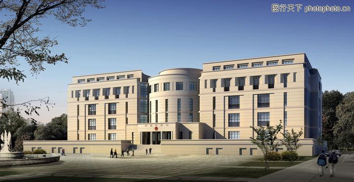 建筑效果图3 建筑效果图 现代建筑全景效果图