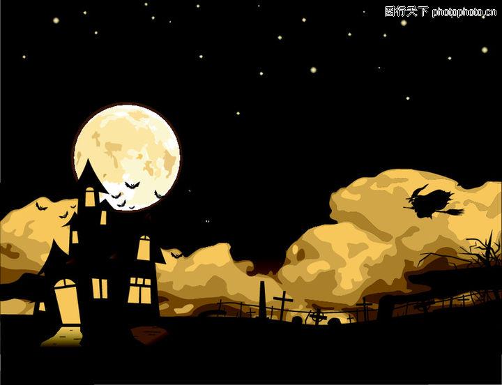 夜晚 圆月 中秋