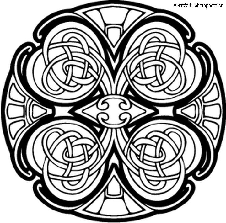韩国花纹 欧式古典花纹 装饰花纹配饰; 凯尔特装饰品 欧美花纹元素