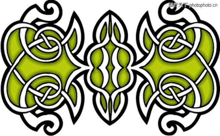 凯尔特装饰品,欧美花纹元素