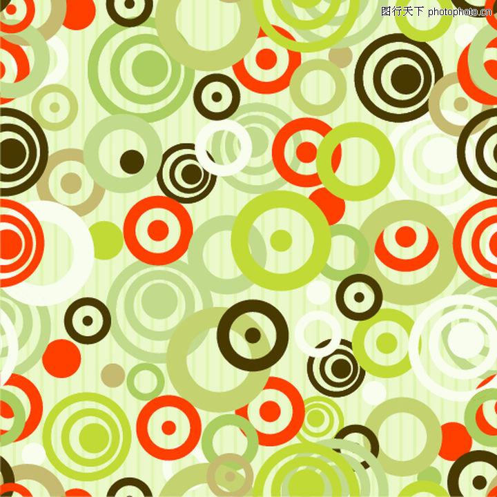 欧美花纹元素,圆图布纹