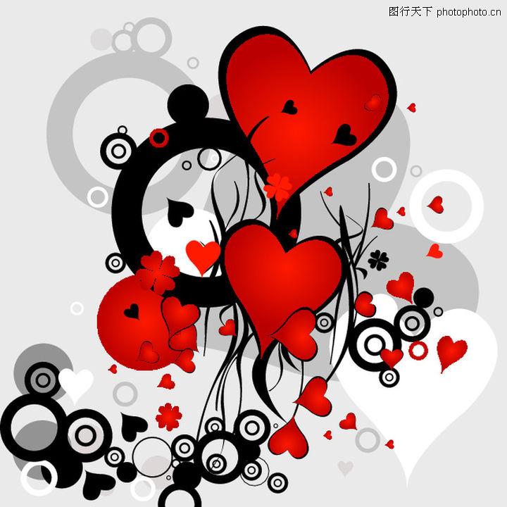红心,欧美花纹元素,红心0037