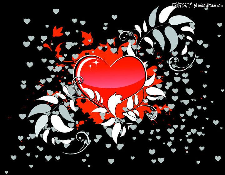 红心,欧美花纹元素,红心0044