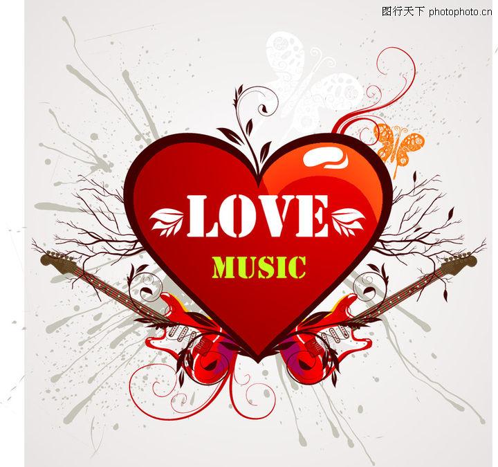 红心,欧美花纹元素,爱心,红心0059