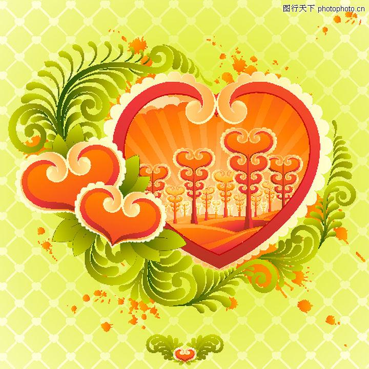 红心,欧美花纹元素,红心,红心0072